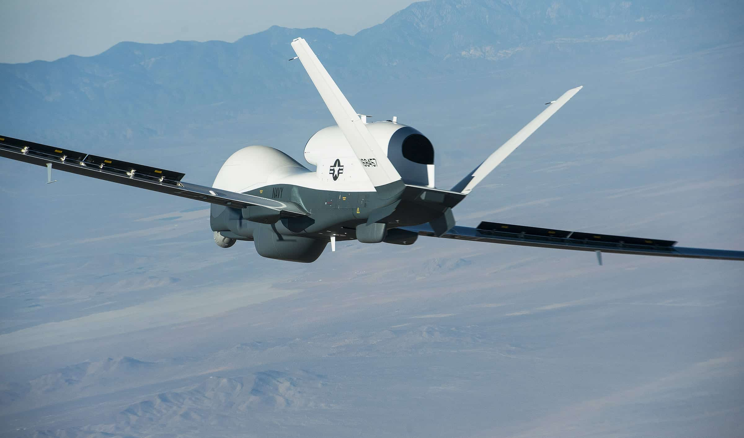 northrop grumman 39 s triton uav completes first flight unmanned systems technology. Black Bedroom Furniture Sets. Home Design Ideas