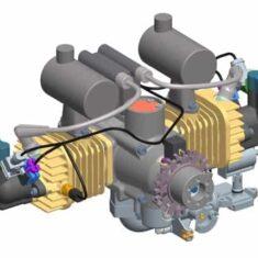 Boxer Twin UAV Engine