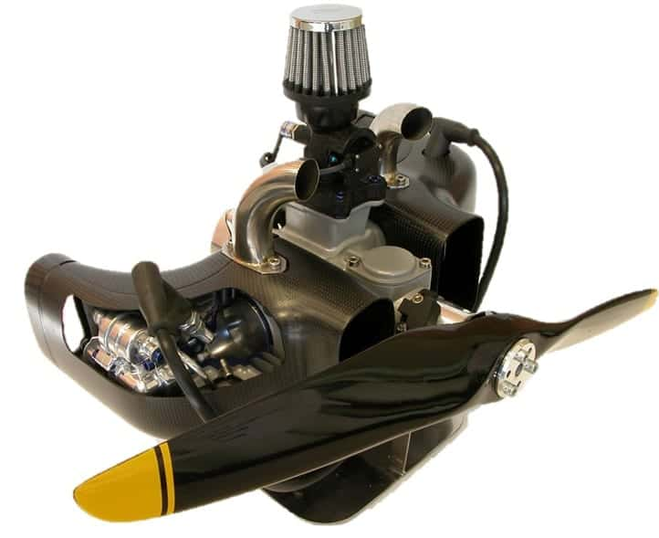 Red Back 2-Cylinder Boxer Heavy Fuel UAV Engine