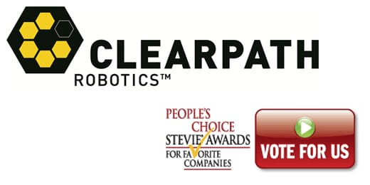 Clearpath Robotics Nominated For People's Choice Award
