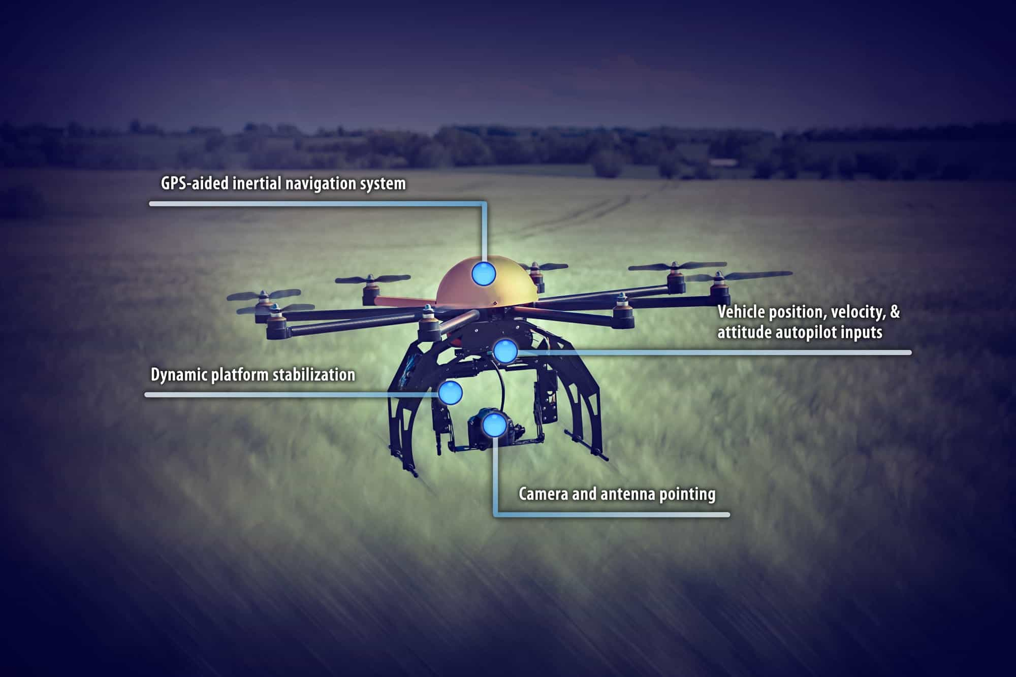 Uav Inertial Sensors Displacement Sensors Amp Wireless