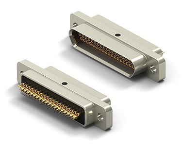 MicroD Solderable Standard Profile Metal Shell Soldercup Connector