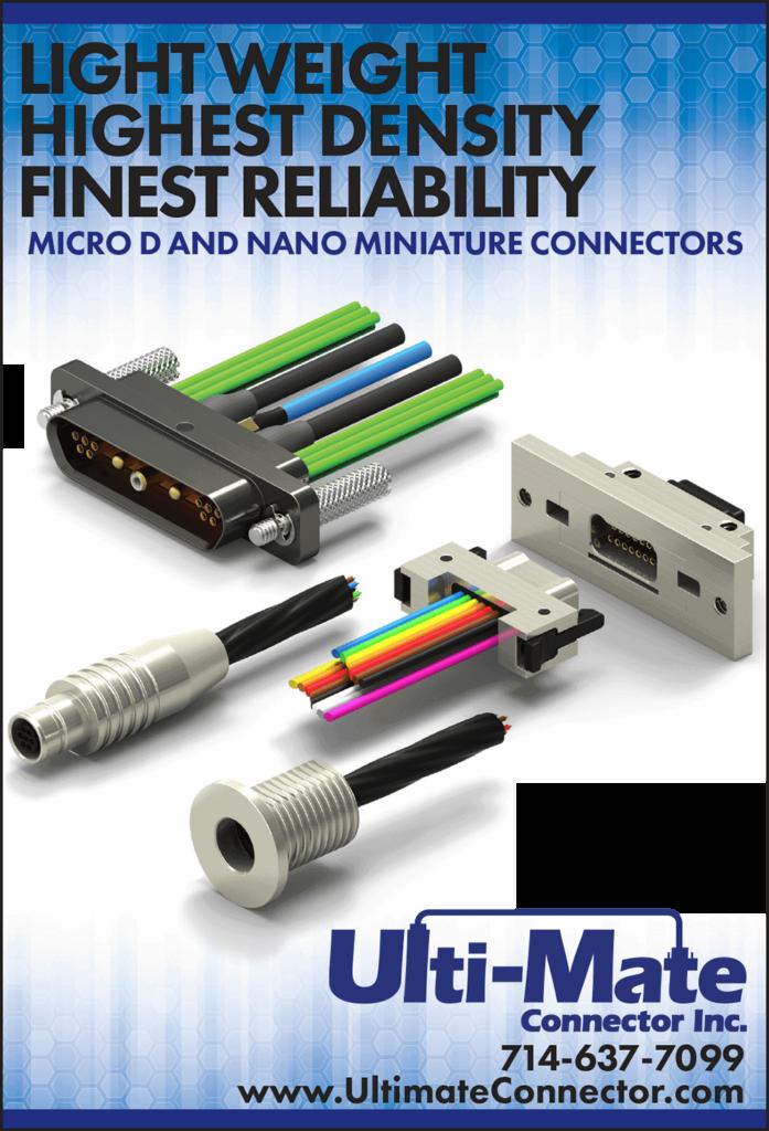 UltiMate lightweight miniature connectors