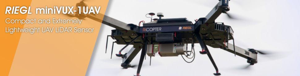 RIEGL miniVUX-1UAV – Compact and Extremely Lightweight UAV LiDAR Sensor