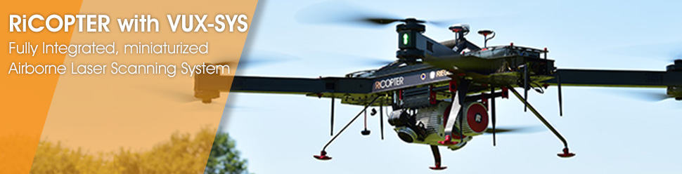 RiCOPTER with VUX-SYS – Fully Integrated, miniaturized Airborne Laser Scanning System