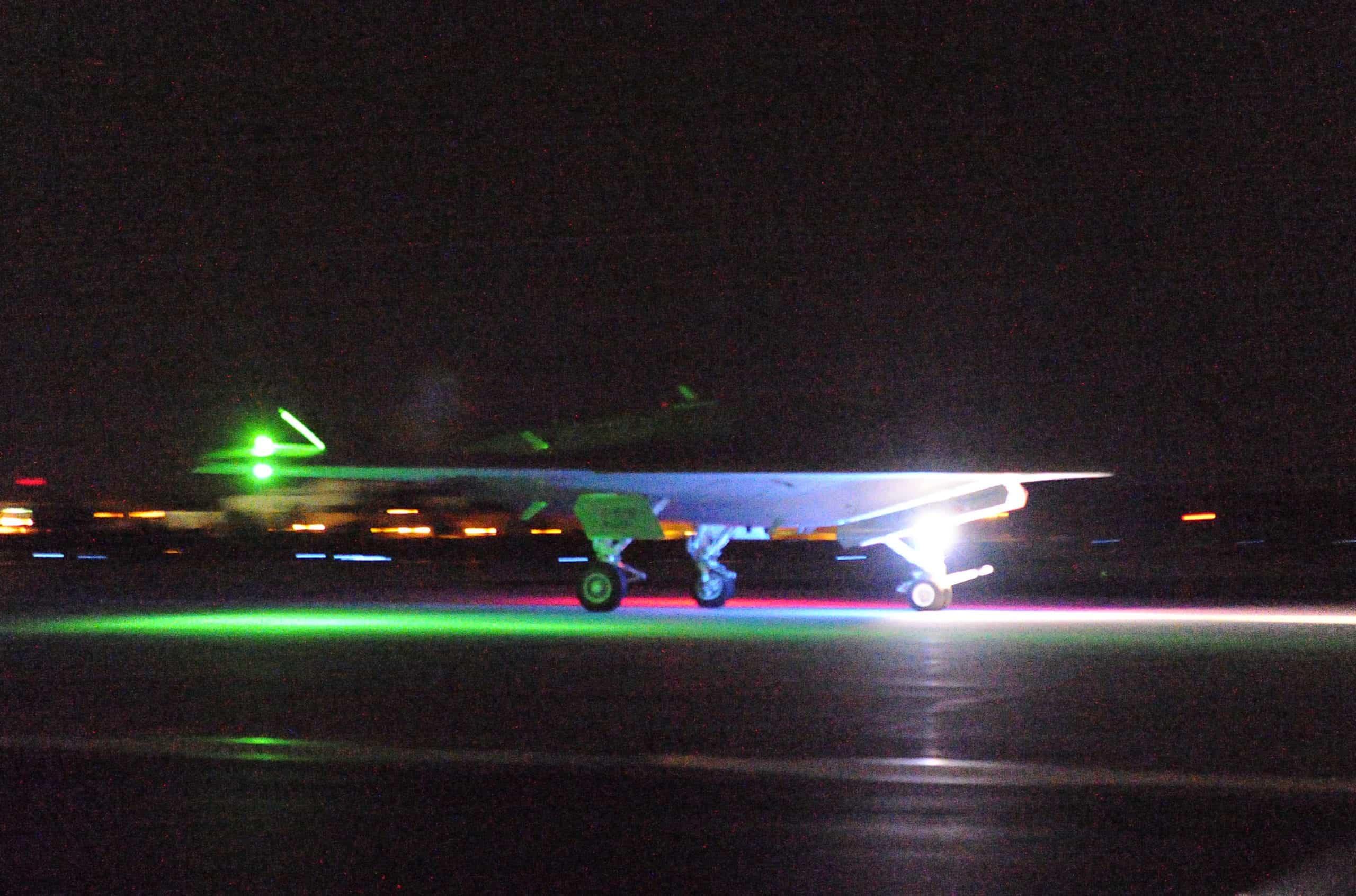 X-47B Night | Unmanned...X 47b At Night