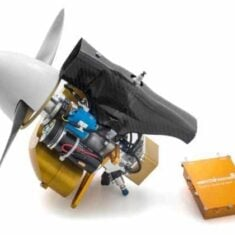 UAV Engine with 100W Onboard Generator System