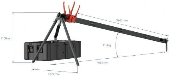 UAV Launcher Dimensions