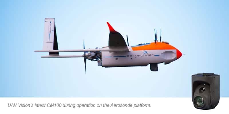 UAV Vision Integrates Latest Gimbal on Aerosonde UAV