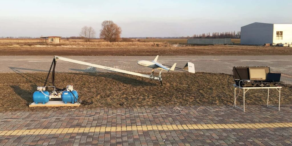 Pneumatic UAV Catapult Launcher