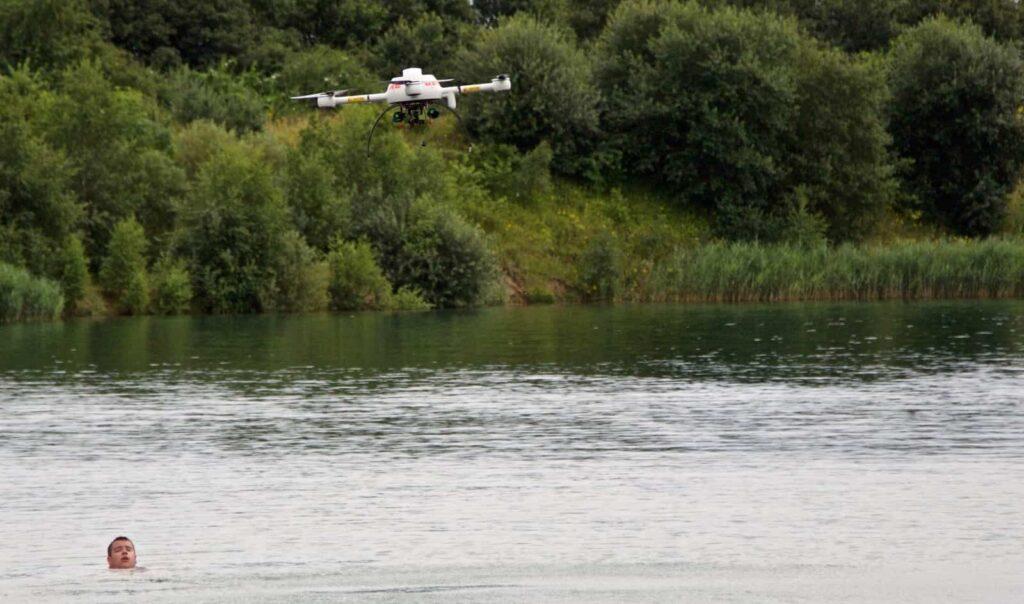 microdrones water rescue