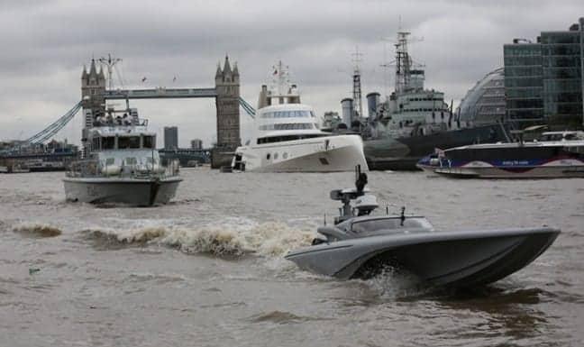 MAST USV Completes Tidal Thames Trials