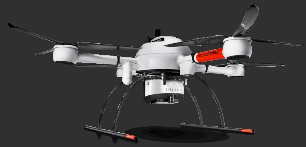 Microdrones mdLiDAR1000 Quadcopter UAV Solution