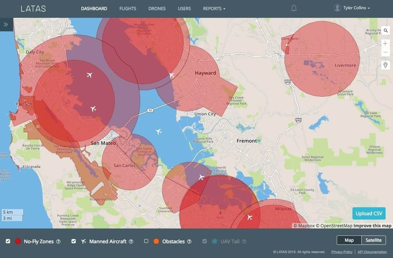 PrecisionHawk LATAS Map