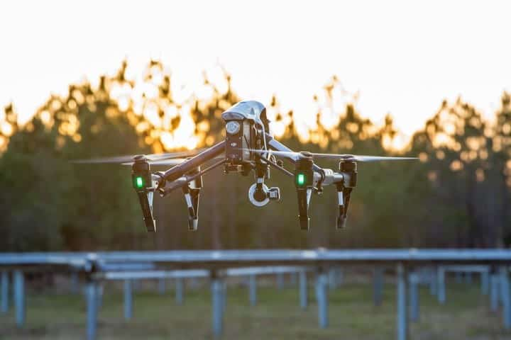 Measure energy infrastructure inspection drone