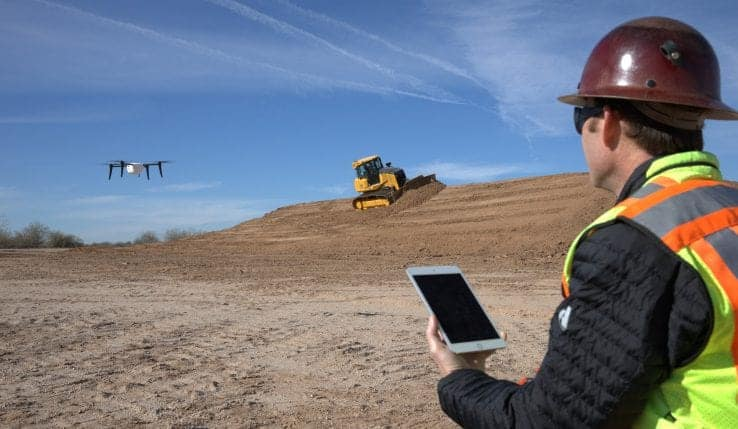 John Deere and Kespry construction site drone partnership