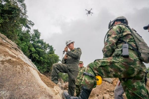 Drone mapping in Colombia