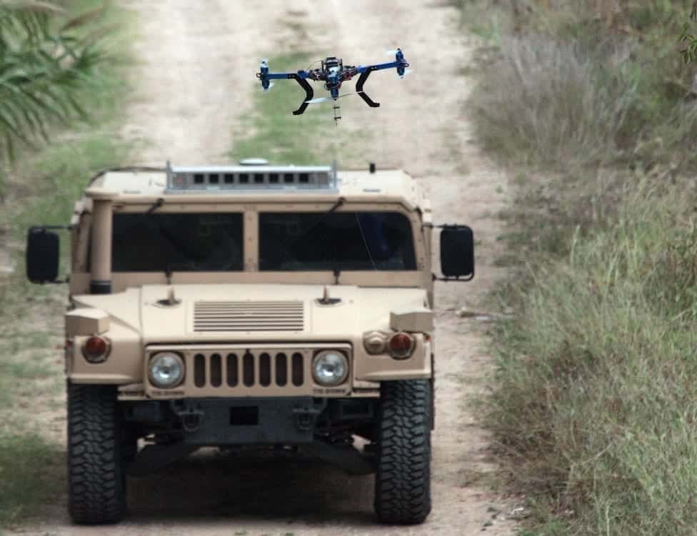UGV with drone