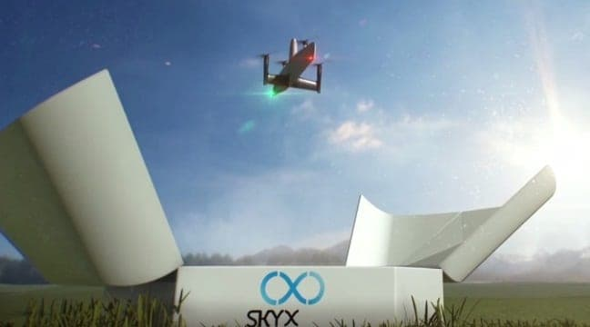 SkyX SkyOne drone and station