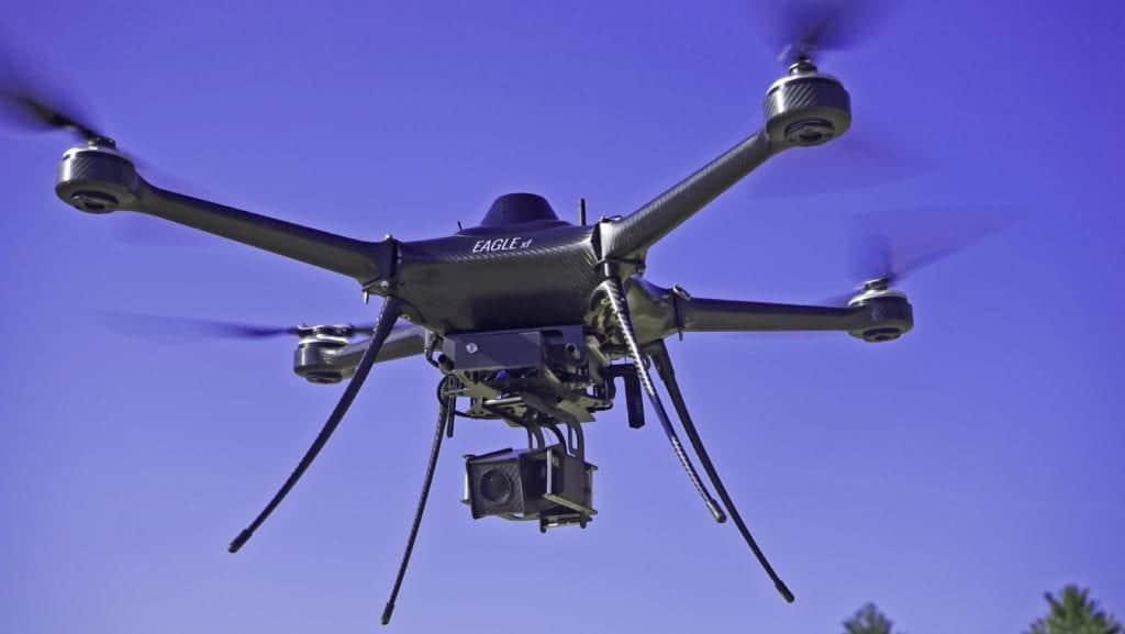 USG-301 Gimbal installed on Eagle XF Drone