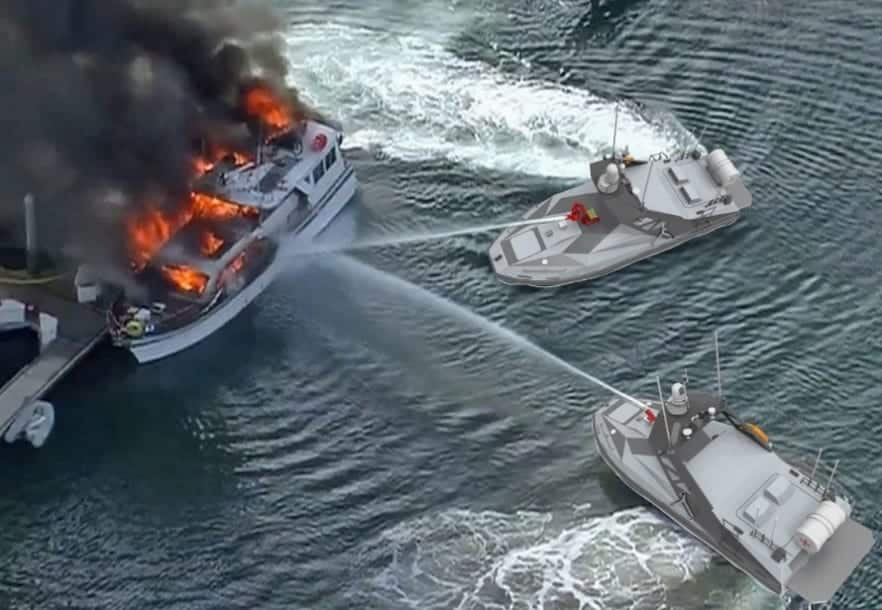 L30 Autonomous Fire Control and Rescue Boats