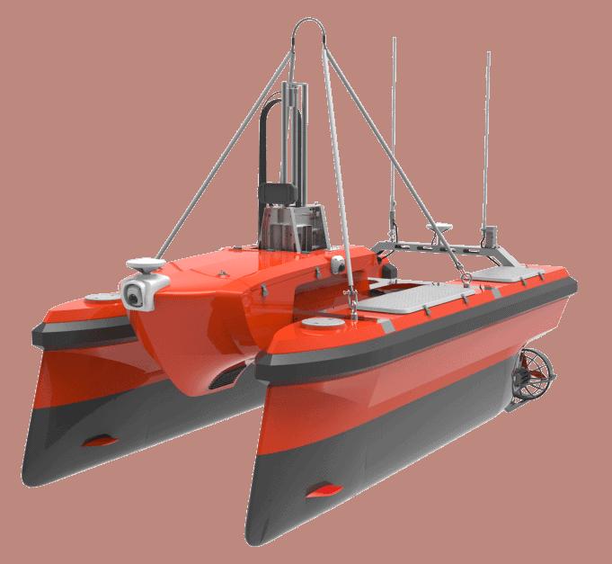 M40A Catamaran Oceanographic Survey USV