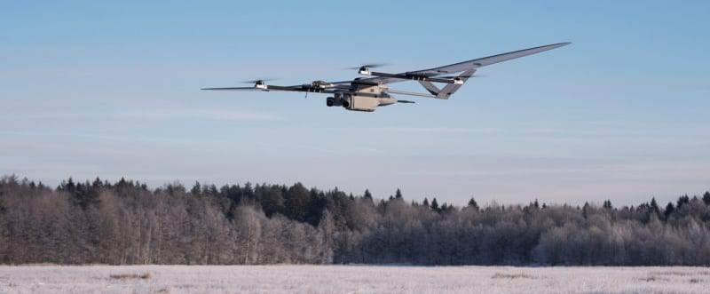 EOS-VTOL Hybrid Fixed-Wing Drone