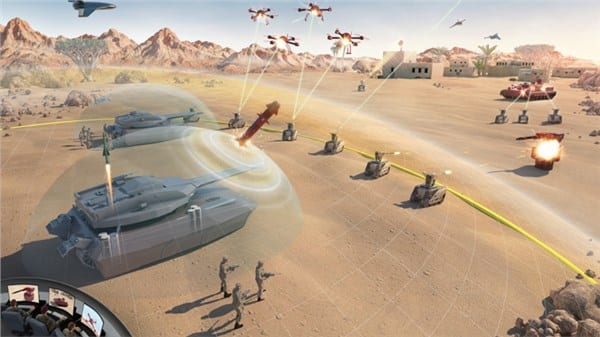 BAE Autonomous Tank and Unmanned Aircraft concept