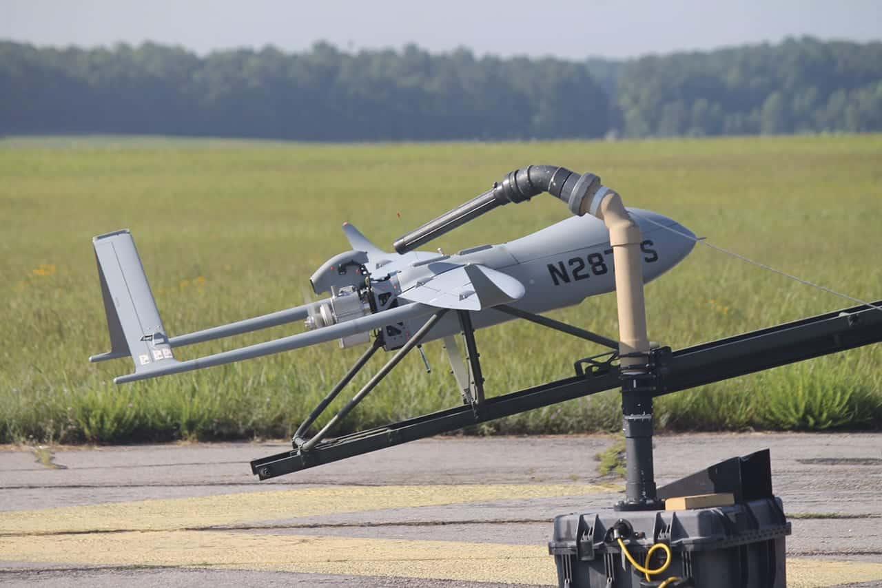 Textron Aerosonde SUAS on Launcher