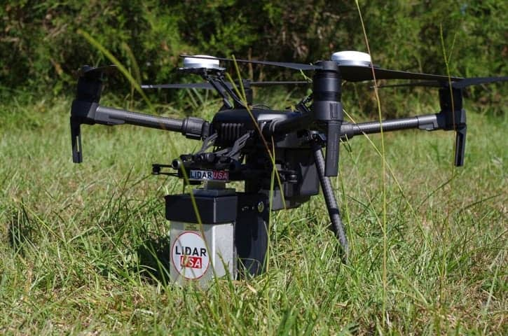Lidar Usa Drone With Payload Unmanned Systems Technology