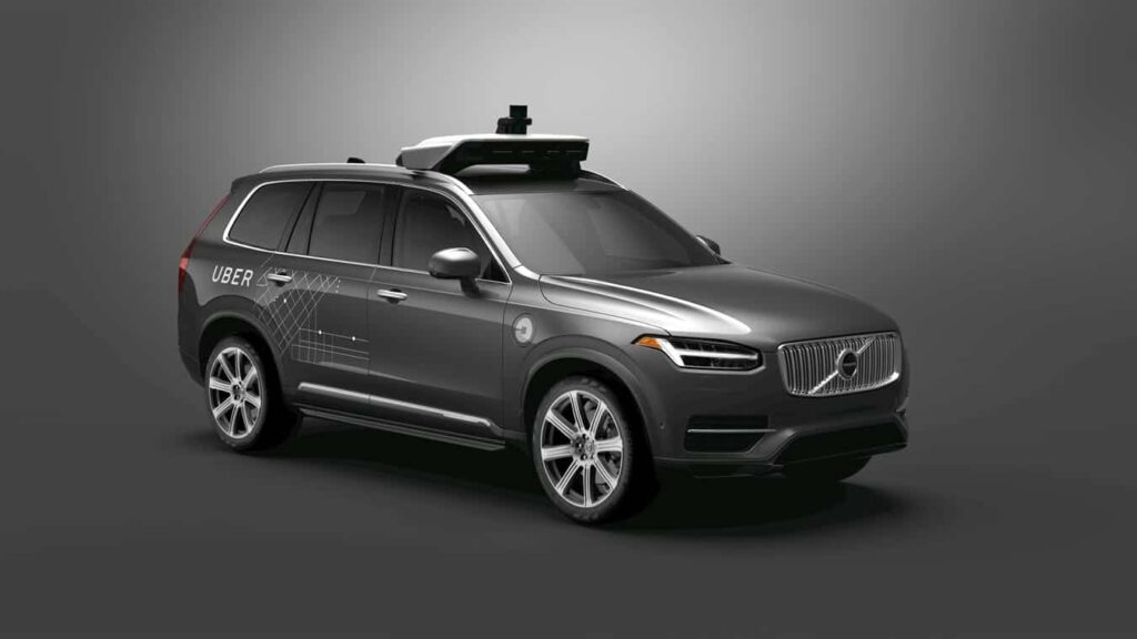 Volvo and Uber autonomous car