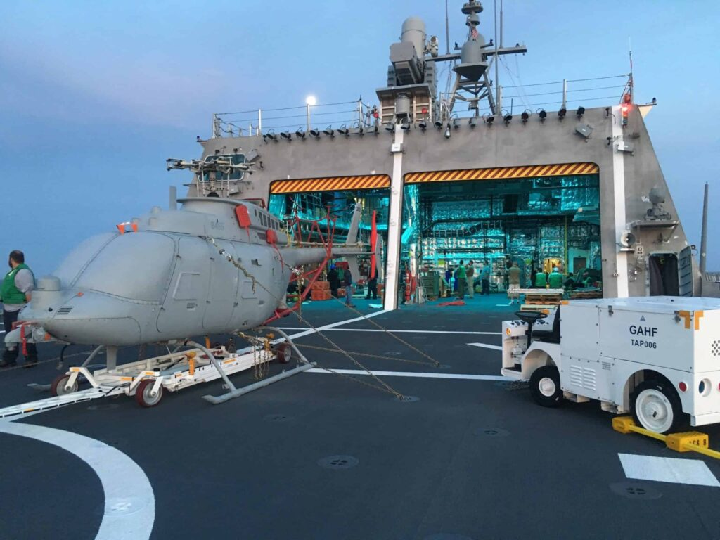 Fire Scout UAS on board US Navy ship