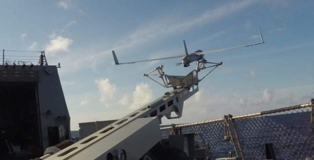 Insitu ScanEagle UAS and launcher