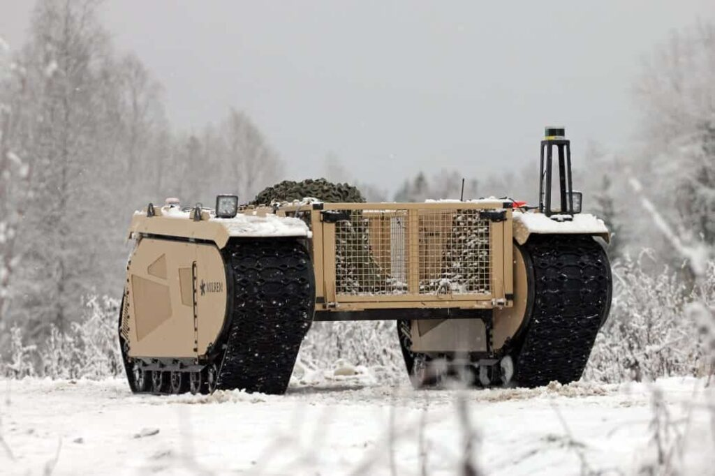 Milrem unmanned ground vehicle