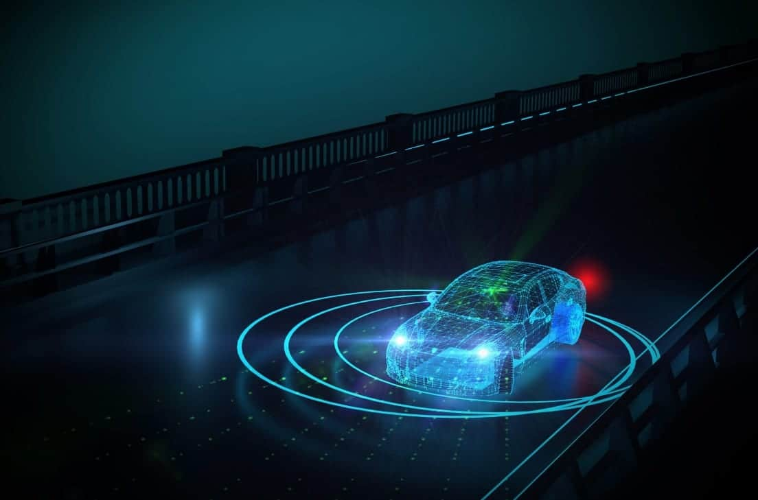 Infrared Lasers Integrated Into Autonomous Vehicle