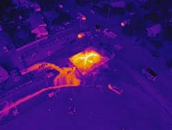 Drone Thermal Camera for Fire Service