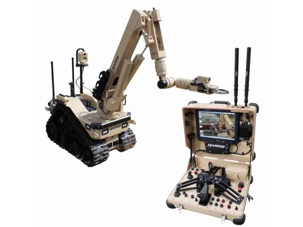 Harris EOD robot with Silvus radio