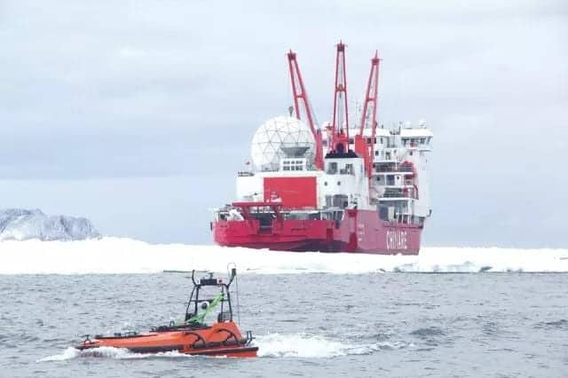 USV Conducts Antarctic Surveying Research