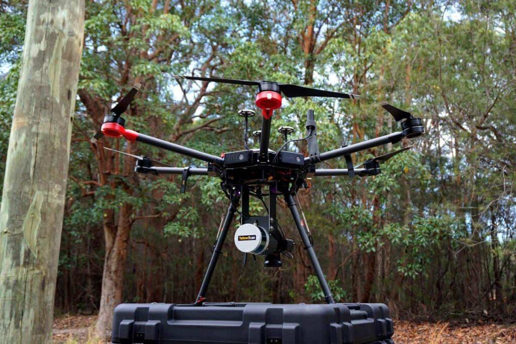 YellowScan Surveyor Ultra LiDAR system and UAV