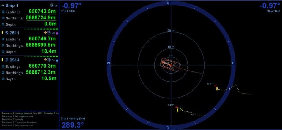 USBL AUV ROV positioning system