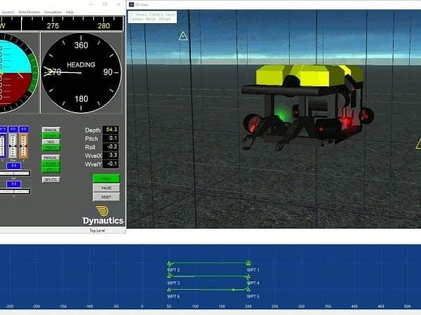 Dynautics AUV Simulator
