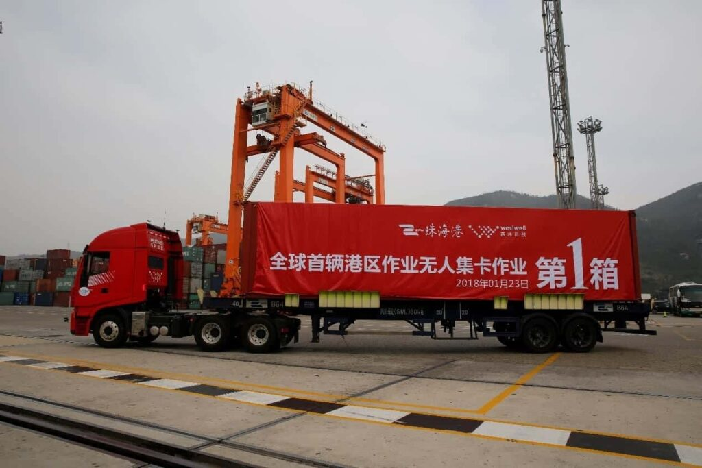 Westwell driverless container truck