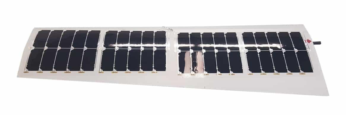 Laminated Solar Sheets on UAV Wing