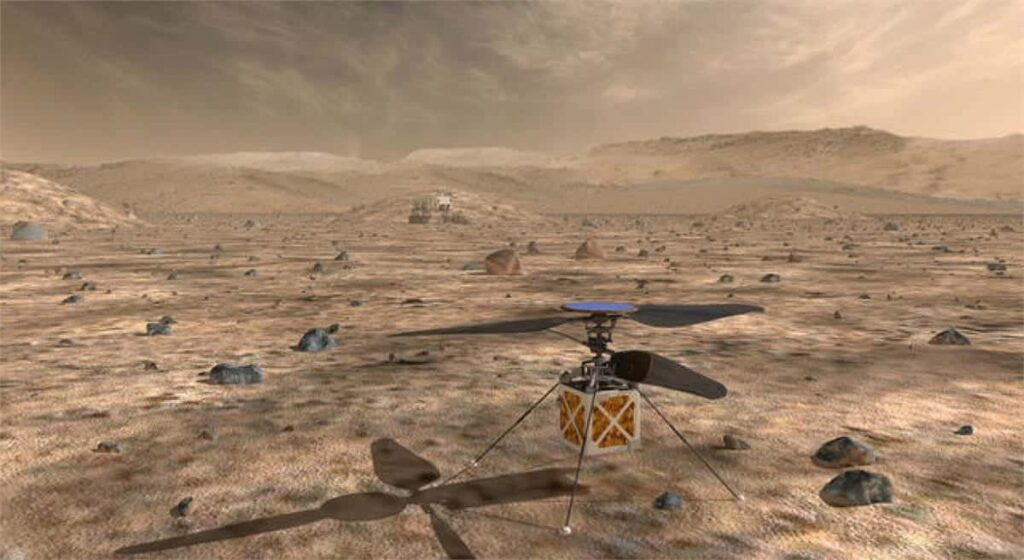 NASA autonomous Mars Helicopter