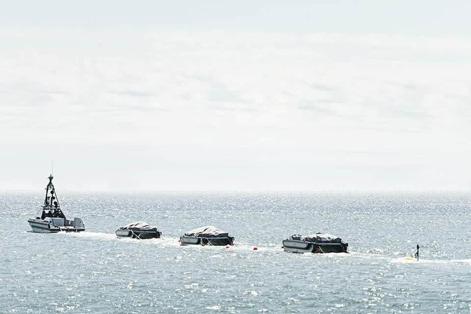 UK MoD unmanned minesweeping system