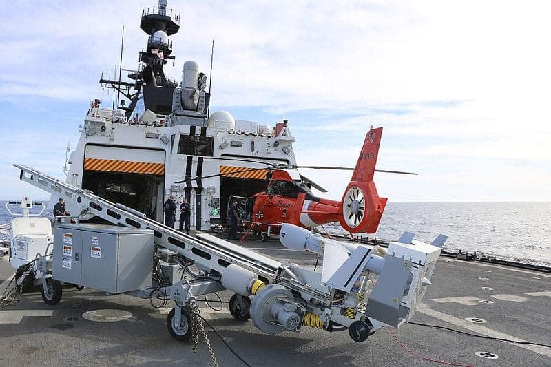 Insitu ScanEagle on Coast Guard ship