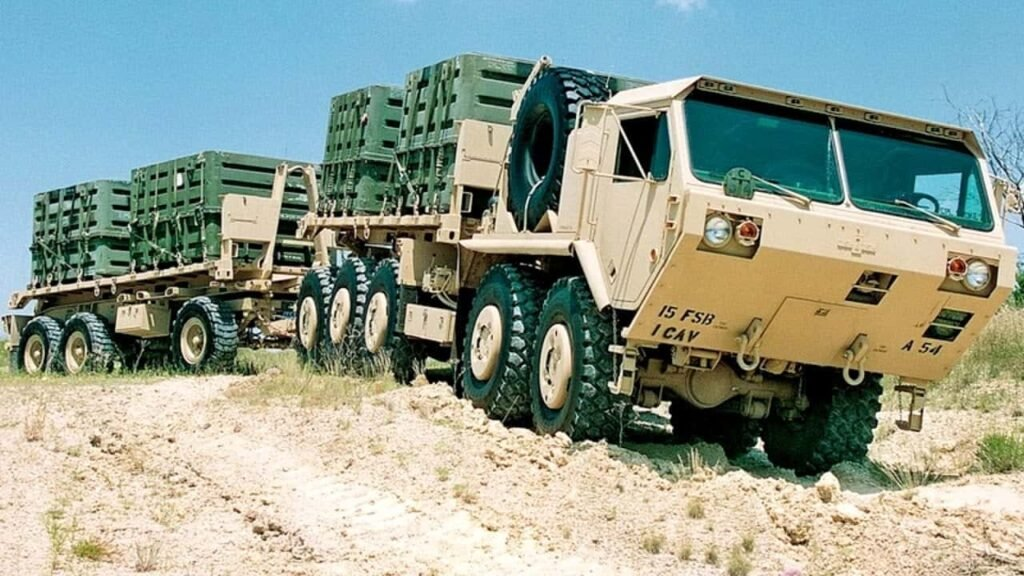 US Army convoy resupply vehicle