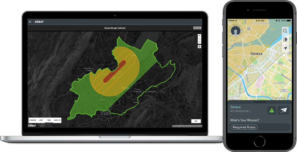 AirMap and Skyguide Swiss U-space services