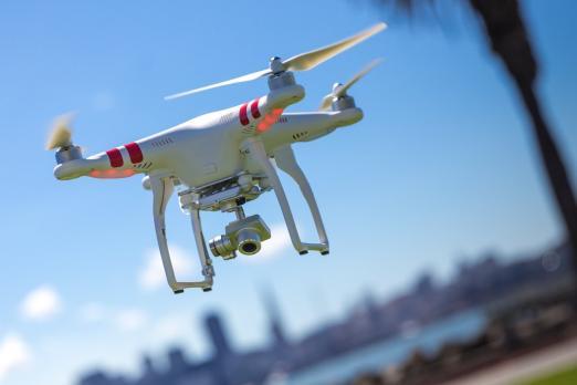 DJI drone geofencing