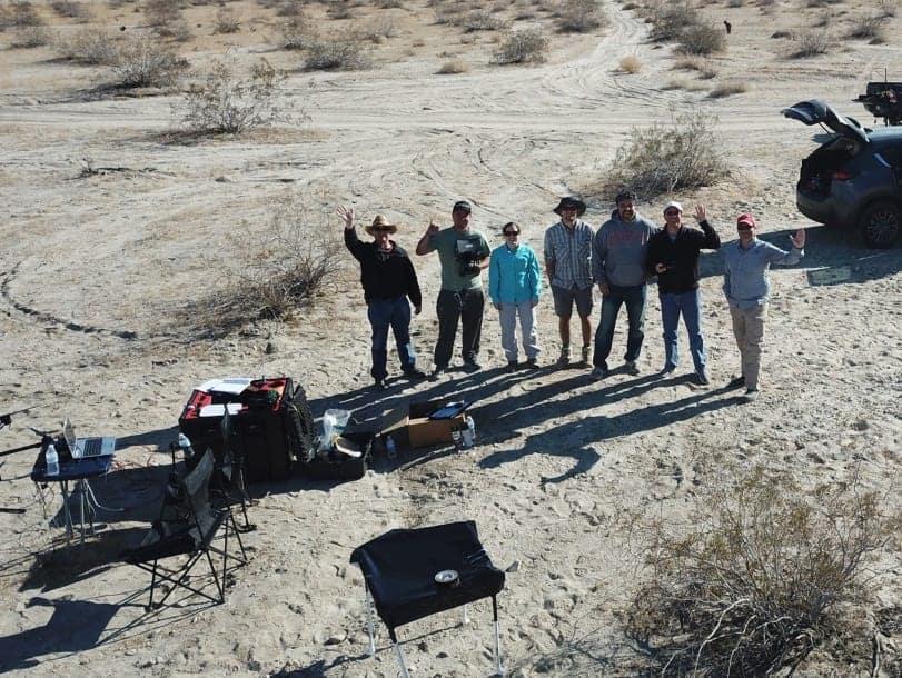 San Andreas fault drone LiDAR team